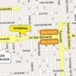 Mapa Hostel Casa Fortaleza San Bernardo Argentina Buenos Aires